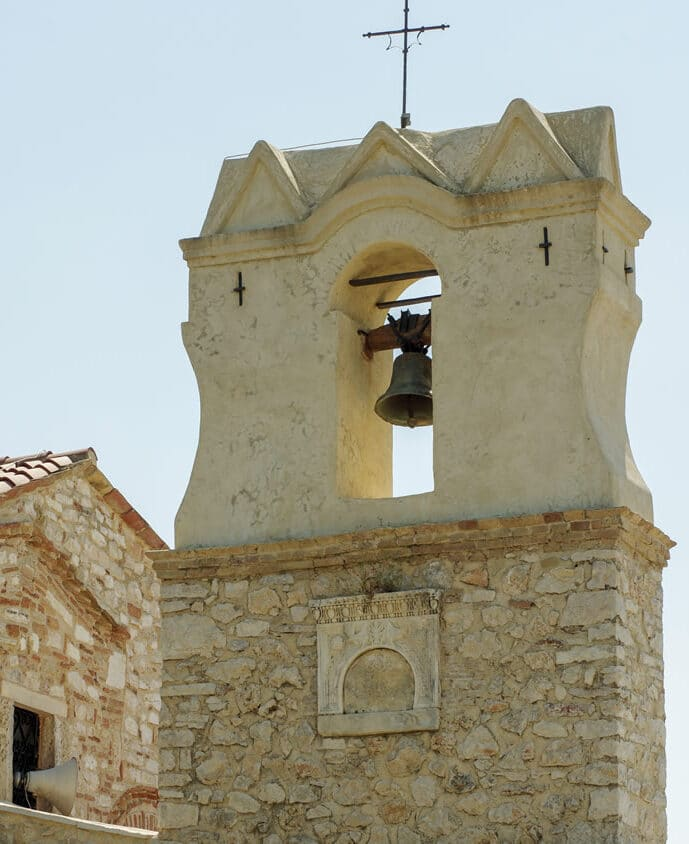 Koronisia church tower