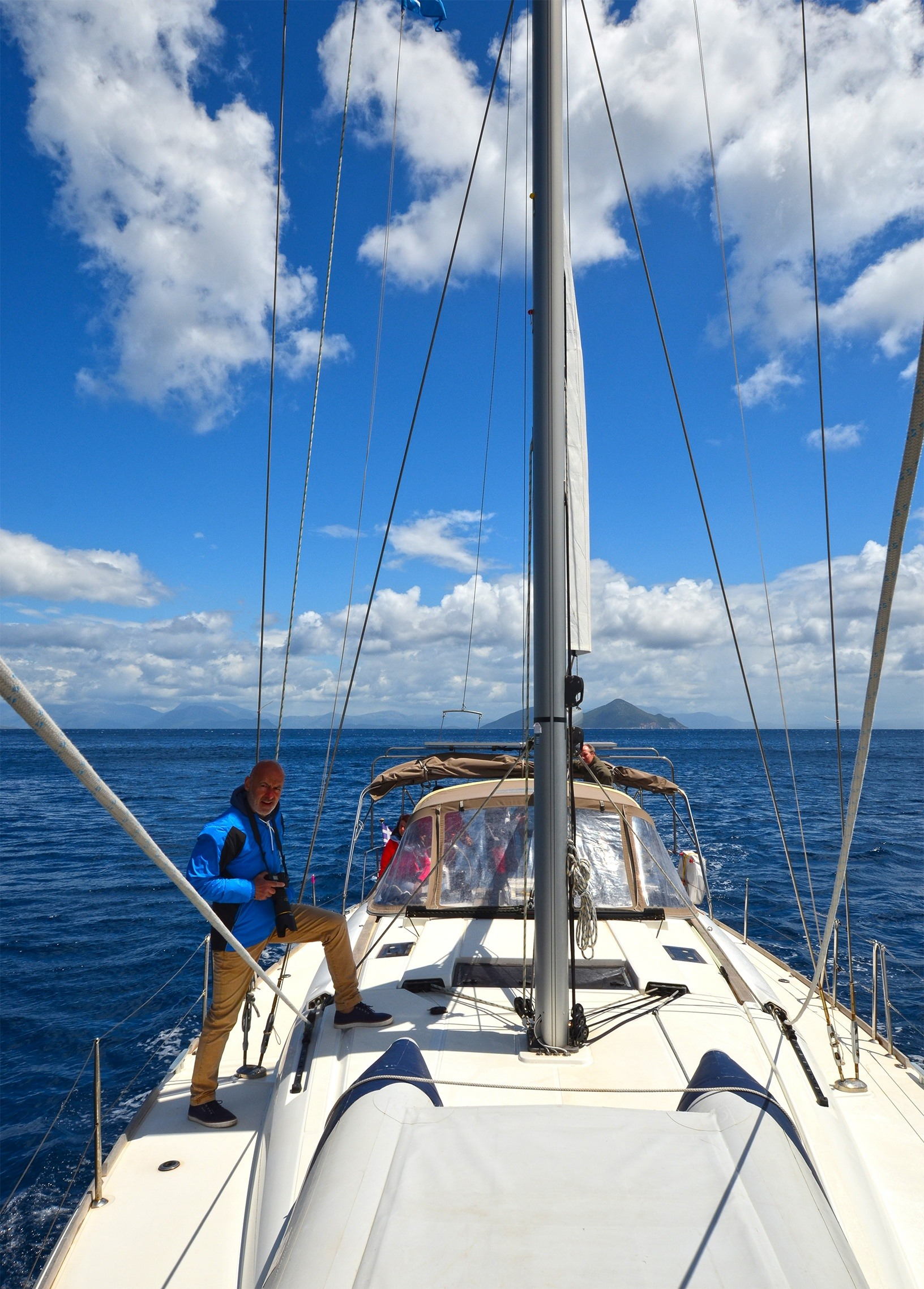 sailing and discovering ionian sea